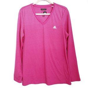 ADIDAS Aerofit Climacool Pink Long Sleeve Top XL